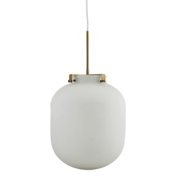Colgante Ball Blanca – Lámpara de cristal – House Doctor – Liderlamp
