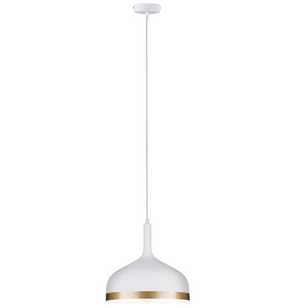 Colgante Embla – metal blanco – ribete dorado – lámpara de techo – Liderlamp