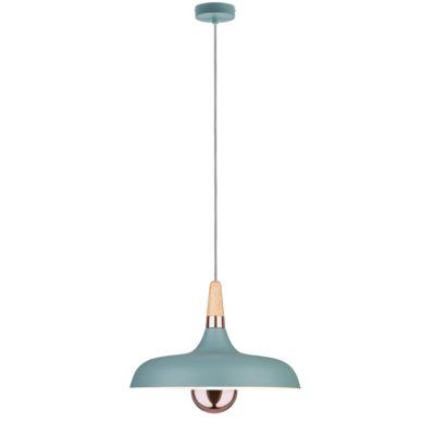 Colgante Juna - verde - madera y cobre - Liderlamp