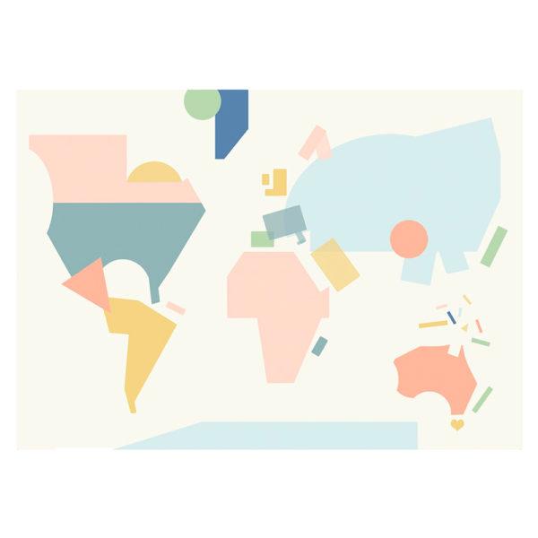 Lámina mapa mundi - niños - poster infantil - Olli Ella - Liderlamp (4)