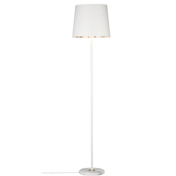 Pie de Salón Enja – Mármol – tulipa blanca dorada- Liderlamp