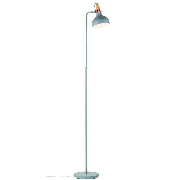 Pie de salón Juna – verde – madera y cobre – Liderlamp