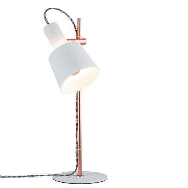 Sobremesa Haldar – cobre y blanco – nórdico – Liderlamp