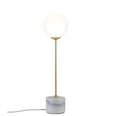 Sobremesa Moa - mármol - dorado - cristal - Liderlamp
