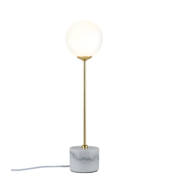 Sobremesa Moa – mármol – dorado – cristal – Liderlamp