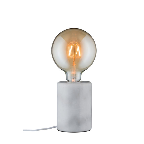 Sobremesa Soa – Marmol – bombilla Edison – Liderlamp