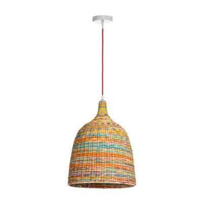 Colgante Utan - metal y ratan - multicolor - Liderlamp (2)