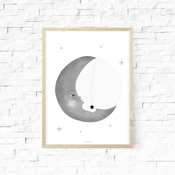 Lámina infantil - Amayadeeme - luna - nordico - Liderlamp (3)