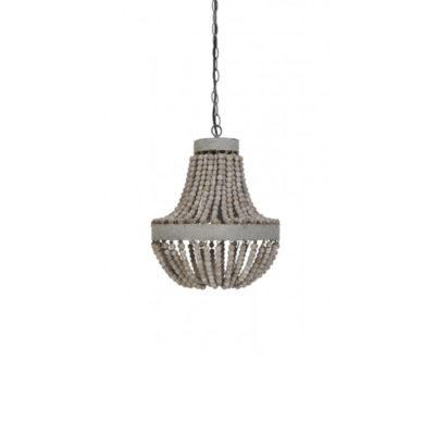Lámpara Luna - Cuentas de madera - colgante - Liderlamp