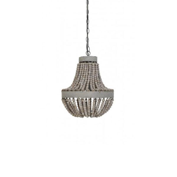 Lámpara Luna – Cuentas de madera – colgante – Liderlamp