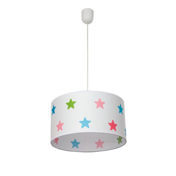 Lámpara colgante – luz auxiliar – pantalla estrellas multicolor – Fabrilamp – Liderlamp