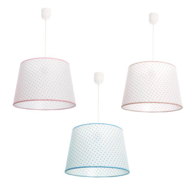 Lámpara colgante - pantalla de topos - textil - Fabrilamp - Liderlamp (2)