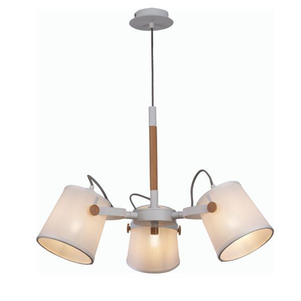Lámpara de techo nórdica – 3 luces – pantalla textil – Liderlamp (2)