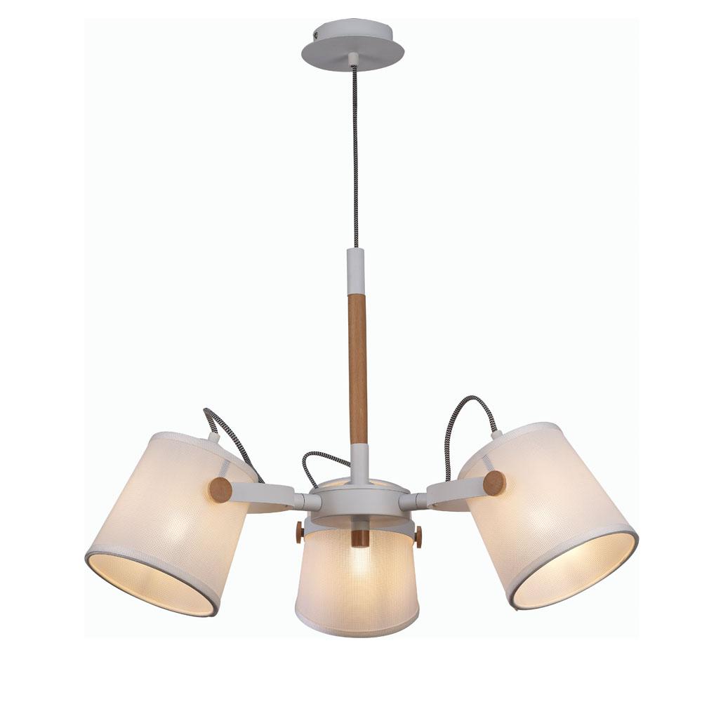 L mpara de techo n rdica 3 luces pantalla textil for Lampara techo juvenil