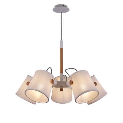 Lámpara de techo nórdica - 5 luces - pantalla textil - Liderlamp (2)
