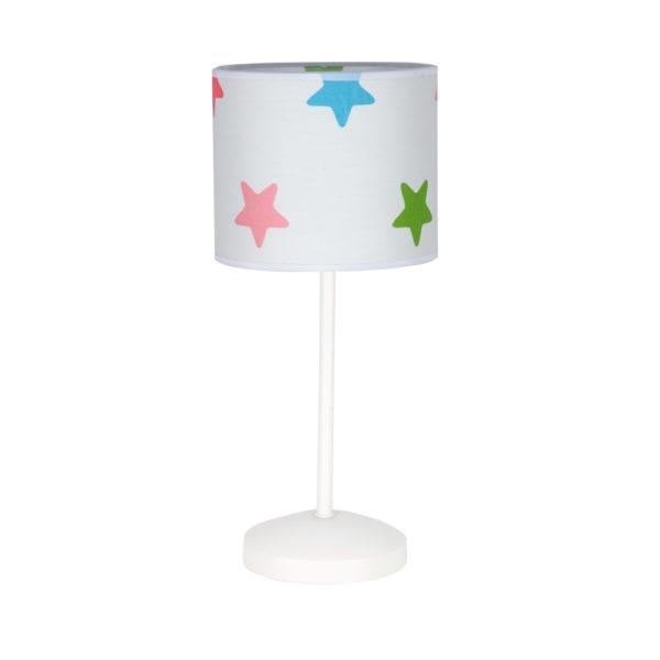 Lámpara sobremesa – luz auxiliar – pantalla estrellas multicolor – Fabrilamp – Liderlamp