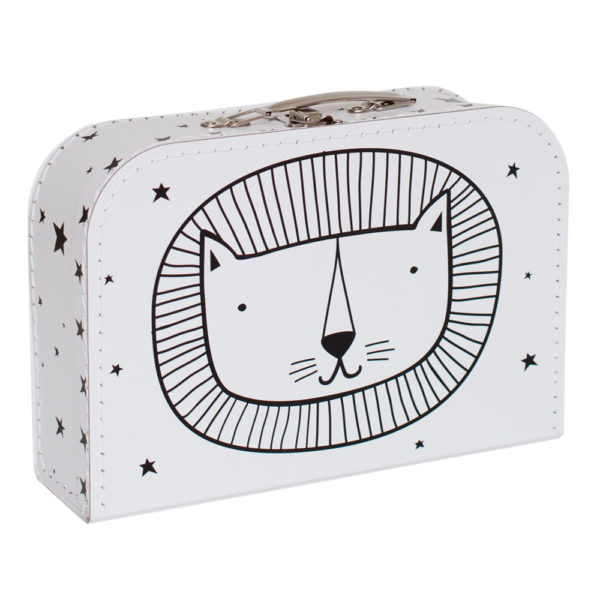 Maletín cabeza de león – cartón reciclado – ilustración – Liderlamp (2)