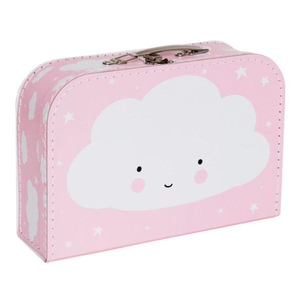 Maletín nube rosa – cartón reciclado – ilustración – Liderlamp (2)
