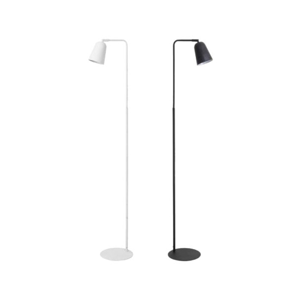 Pie de salón Salomo – metal negro – lámpara de pie – Liderlamp (3)