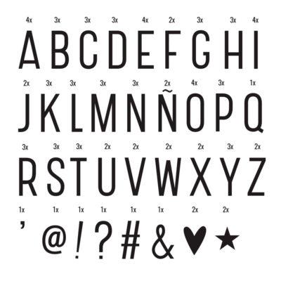 Set extra de letras para tu caja de luz - A Little Lovely Company - Liderlamp (2)