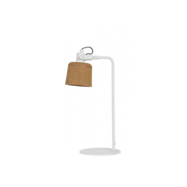 Sobremesa Danuta - Corcho y metal blanco - Liderlamp