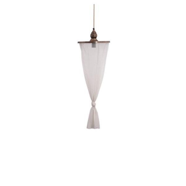 Colgante Nada – hierro y tela – Liderlamp