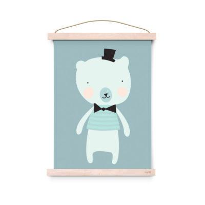 Lámina decoracíon infantil - Poster - Dandy Mister Polar - Liderlamp (3)