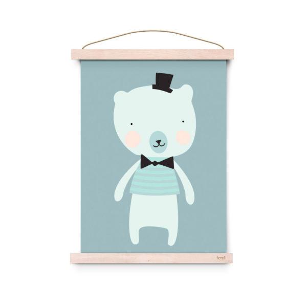 Lámina decoracíon infantil – Poster – Dandy Mister Polar – Liderlamp (3)