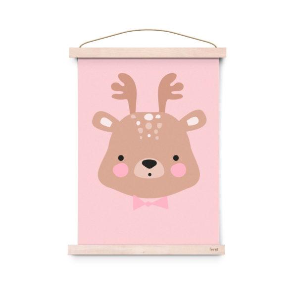 Lámina decoracíon infantil – Poster – Ms. Deer – Liderlamp (1)