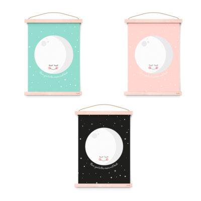 Lámina decoracíon infantil - I Love You To The Moon And Back - Liderlamp