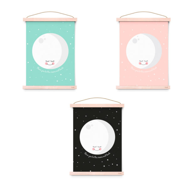 Lamina decoracion infantil – I Love You To The Moon And Back – Liderlamp (1)
