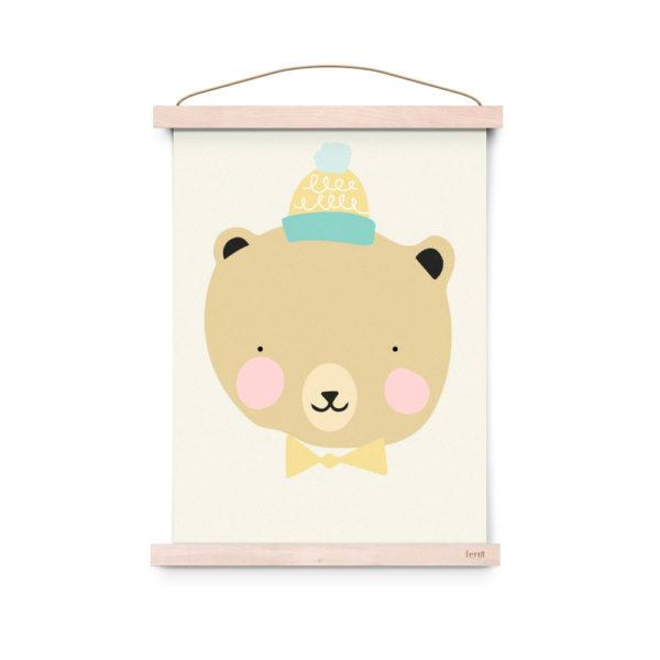 Lamina decoracion infantil – Poster – Frisky Grizzly – Liderlamp (1)