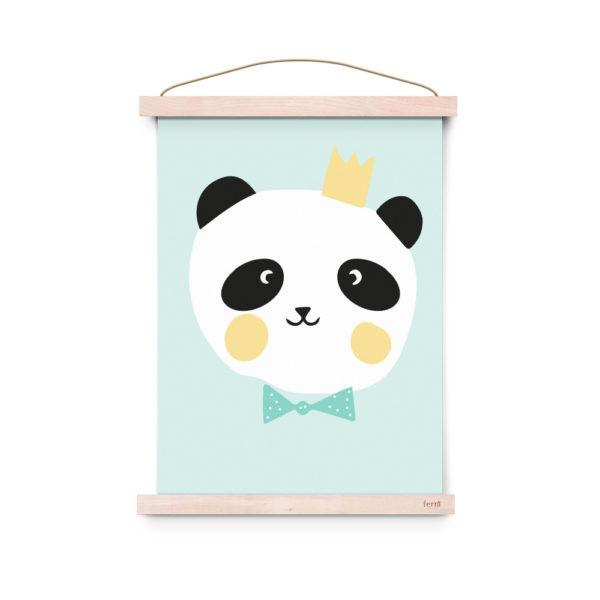 Lamina decoracion infantil - Poster - King Panda - Liderlamp (3)