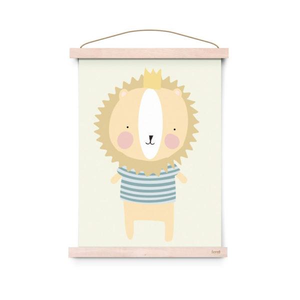 Lamina decoracion infantil - Poster - Majestic Lion - Liderlamp (1)