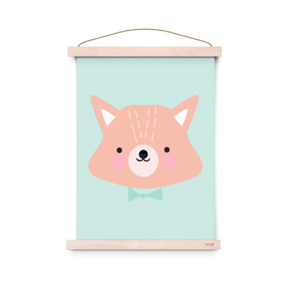 Lamina decoracion infantil – Poster – Mr. Fox – Liderlamp (2)