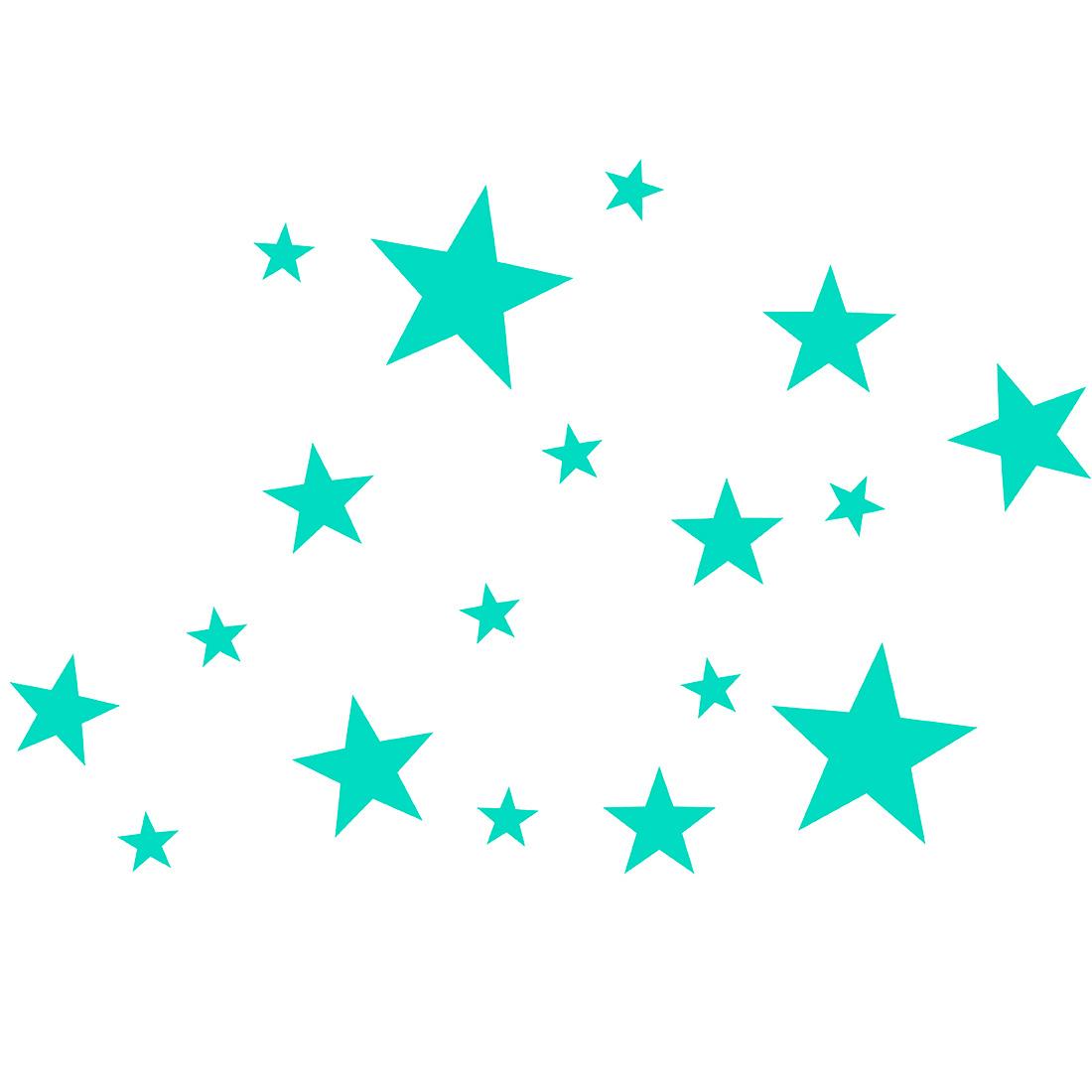 Vinilos decorativos mini estrellas mix decoraci n - Estrellas decoracion infantil ...