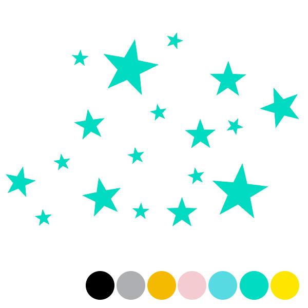 Vinilos decorativos – mini estrellas mix – decoración infantil – Liderlamp