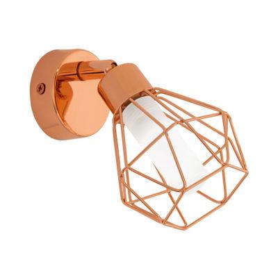 Aplique Zapata - metal geométrico cobre - Liderlamp