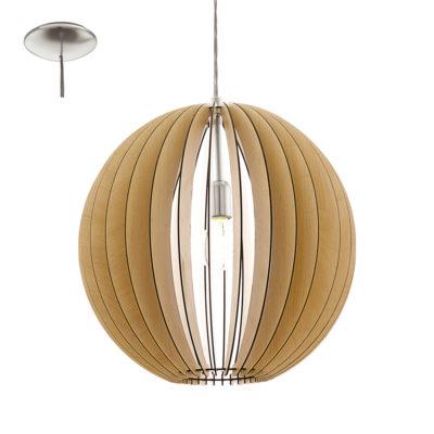 Colgante Cossano - madera natural - láminas de madera - Liderlamp