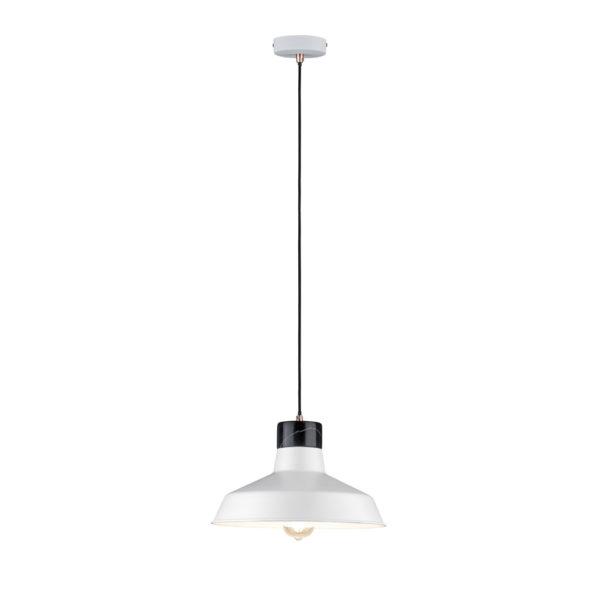 Colgante Neordic Disa - mármol - blanco y negro - Liderlamp
