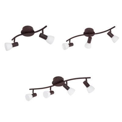 Dakar - Focos para techo y pared - acero marrón envejecido - Liderlamp