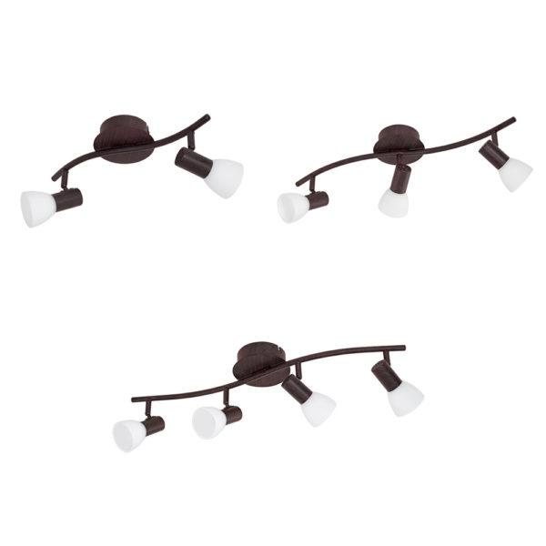 Dakar – Focos para techo y pared – acero marron envejecido – Liderlamp (5)