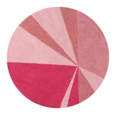 Alfombra Geométrica rosa - Lorena Canals - decoración infantil - Liderlamp
