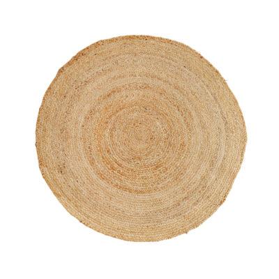 Alfombra circular de yute natural - Madam Sloltz - Liderlamp