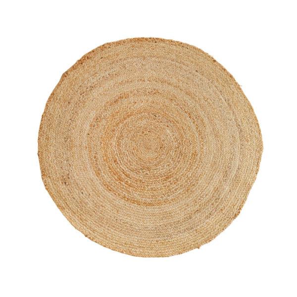 Alfombra circular de yute natural – Madam Sloltz – Liderlamp