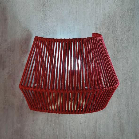 Aplique Banyo – artesanas – pantalla de cuerda – Liderlamp (2)