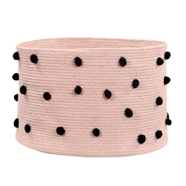 Cesta Pebble nude – Algodon – decoracion textil – Liderlamp (3)
