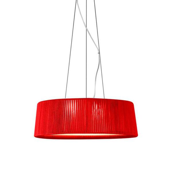 Colgante Drum grande – artesanas – pantalla de cuerda – Liderlamp (1)