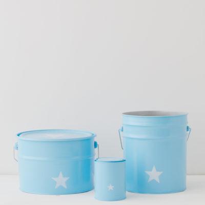 Contenedores de metal - azules con estrella blanca - Liderlamp
