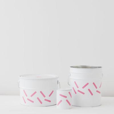 Contenedores de metal - grandes cápsulas rosas - Liderlamp